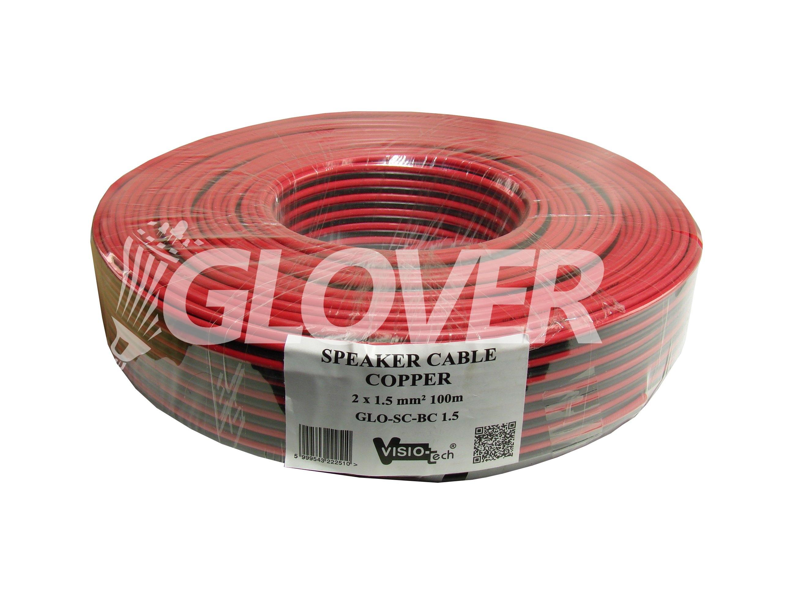 speaker cable 2 1 5 copper 100m glo sc bc 1 5 glover group kft. Black Bedroom Furniture Sets. Home Design Ideas