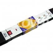 6-os túlfeszültségvédős elosztó 2 m-es kábel kapcsolóval (GLK TV 6-2/WH)
