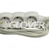 3-as elosztó 5 m-es kábel (GLO 3-5/WH)