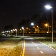 LED Lighting of Lake Velence's Bicycle Track.