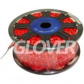 Fényfűzér izzós 230V piros 45m