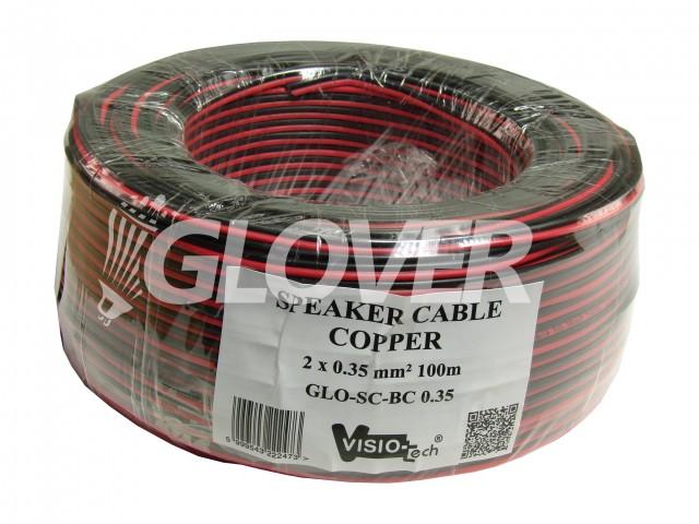 Hangszórókábel 2×0,35 réz 100m (GLO-SC-BC 0.35)