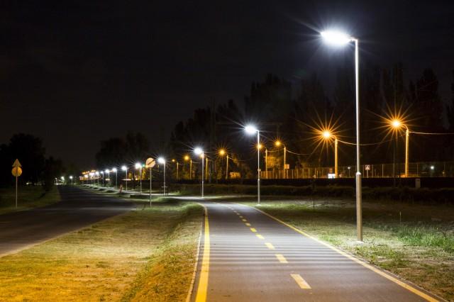 LED Lighting of Lake Velence's Bicycle Track.