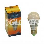 Gömb 3W-os E27-es Opal Warm (GLB-E27-3)