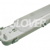 Por és páramentes lámpatest 2*18W LED PC (SY6218D)