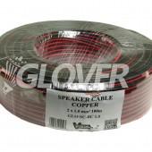Speaker cable 2×1,0 Copper 100m (GLO-SC-BC 1.0)