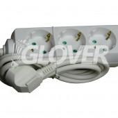 3-as elosztó 1,5 m-es kábel (GLO 3-1,5/WH)