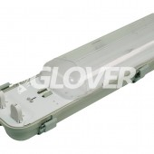 Por és páramentes lámpatest 2*58W EVG PC (SY6258D)