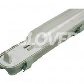 Por és páramentes lámpatest 1*58W LED PC (SY6158D)