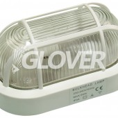 Bulkhead lamp plastic white (GHL-WH)