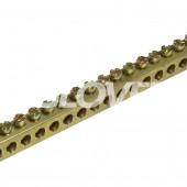 Földelősín 8 x 8mm M4 réz