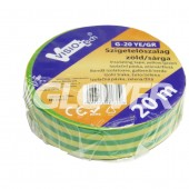 Isolating tape 20m x 18mm green/yellow (G20 YE/GR)