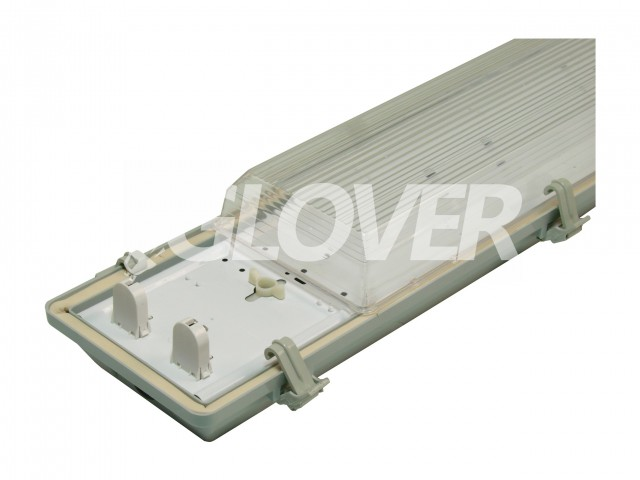 Por és páramentes lámpatest 2*58W EVG PS (SY6258)