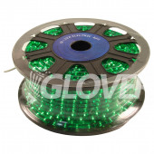 Fényfűzér izzós 230V zöld 45m