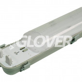 Por és páramentes lámpatest 2*36W EVG PS (SY6236D)