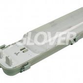 Por és páramentes lámpatest 2*58W LED PC (SY6258D)