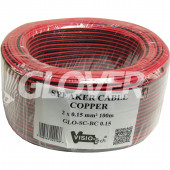 Speaker cable 2×0,15 Copper 100m (GLO-SC-BC 0,15)