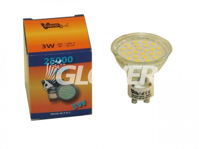 Spot 3W-os GU10-es Warm (GL-LED-GU10-3)