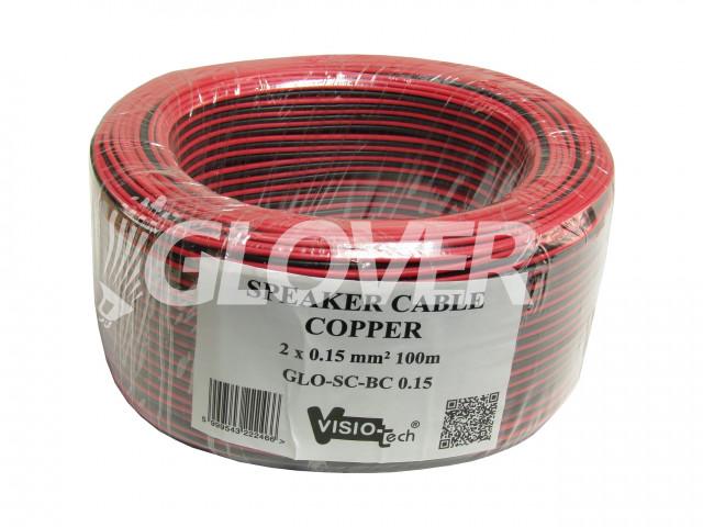 Speaker cable 2×0,15 Copper 100m (GLO-SC-BC 0,15)