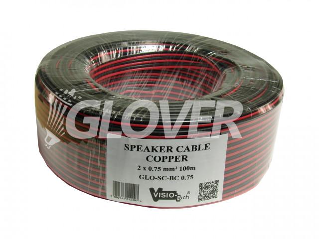 Speaker cable 2×0,75 Copper 100m (GLO-SC-BC 0.75)
