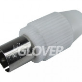 Coaxial plug plastic