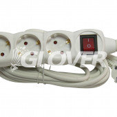 3-sockets 5 m extension cable with switch (GLK 3-5/WH)