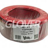 Speaker cable 2×0,5 Copper 100m (GLO-SC-BC 0.5)